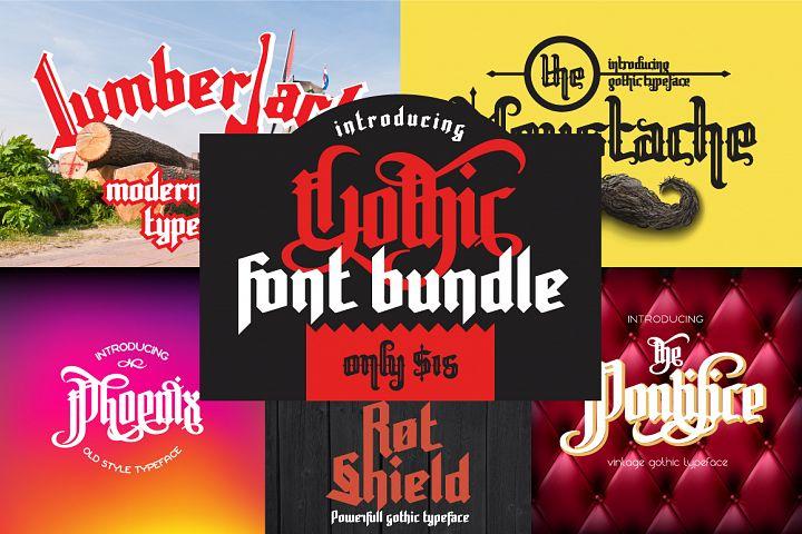 Gothic font bundle