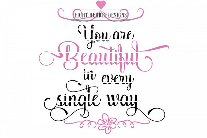 You Are Beautiful - Inspirational message