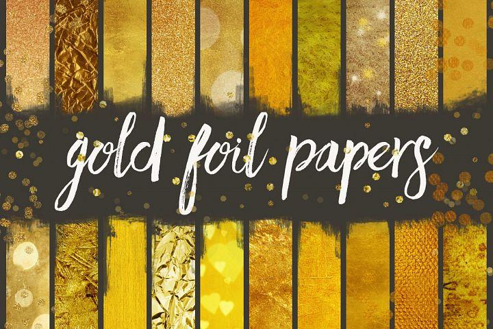 Gold Foil Seamless Patterns