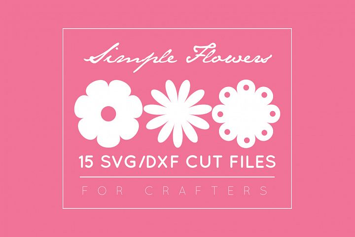 Flower SVG Cut Files DXF / SVG /EPS