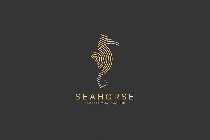 Animal Sea Logo - Seahorse Logo