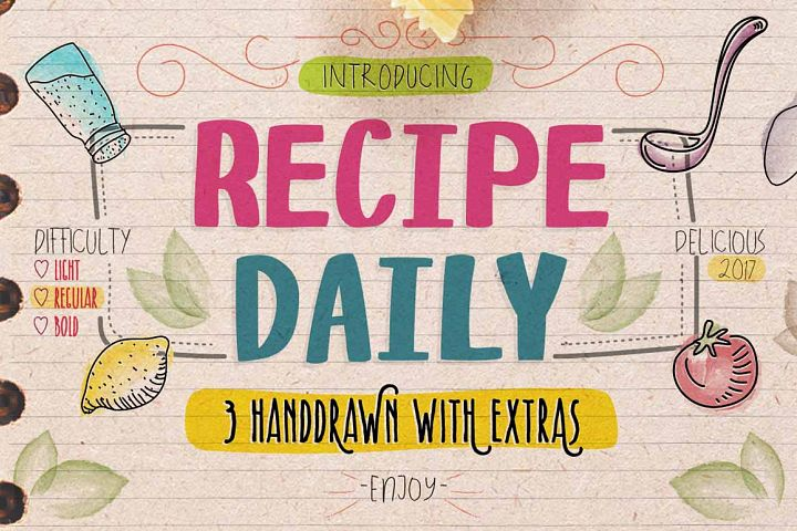 Recipe Daily - Free Font of The Week