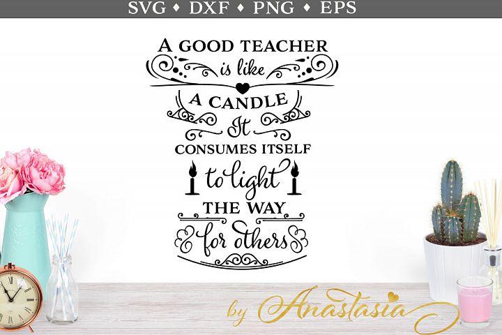 A good teacher SVG cut file