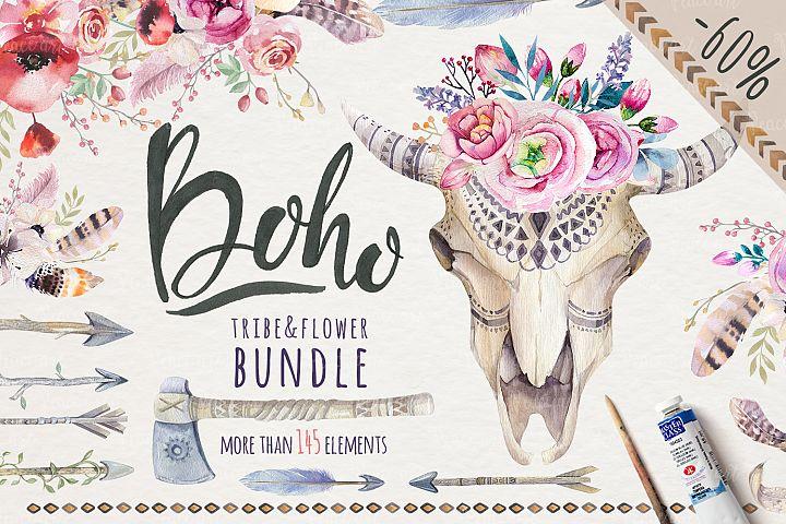 Tribe & Flower boho bundle