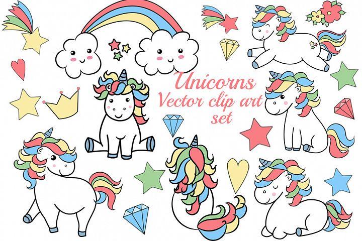 Unicorns clipart