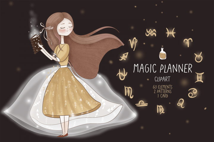 Magic planner clipart