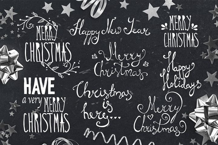 Hand Lettering Christmas Overlays