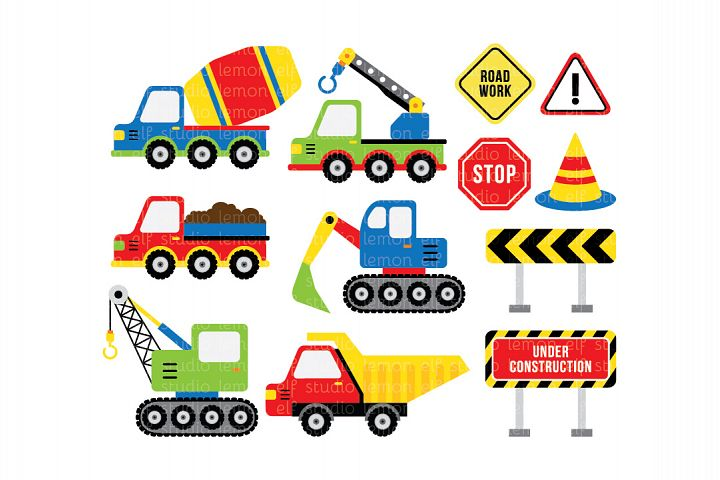 Construction-Digital Clipart (LES.CL25B)