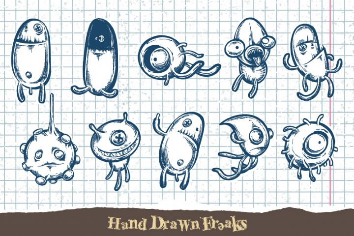 Sketchy Doodle Monsters