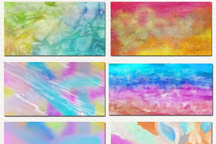 Free Watercolor & Oil Paint 17 Digital Papers example 2