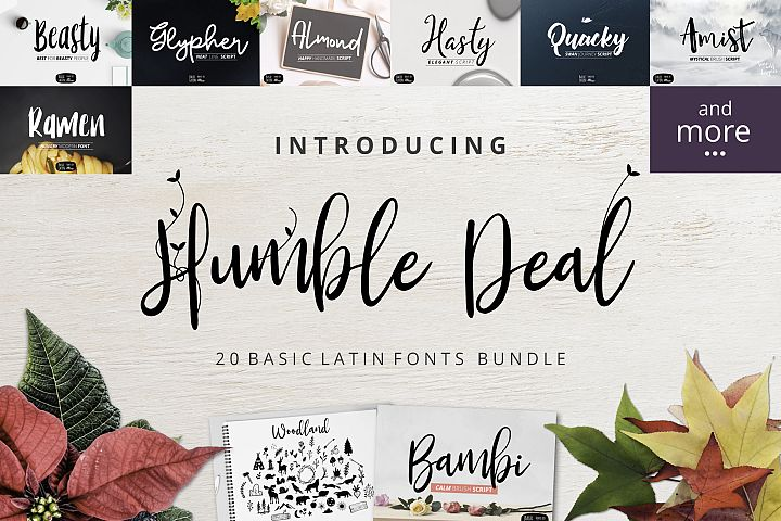 Humble Deal - 20 Font Bundle