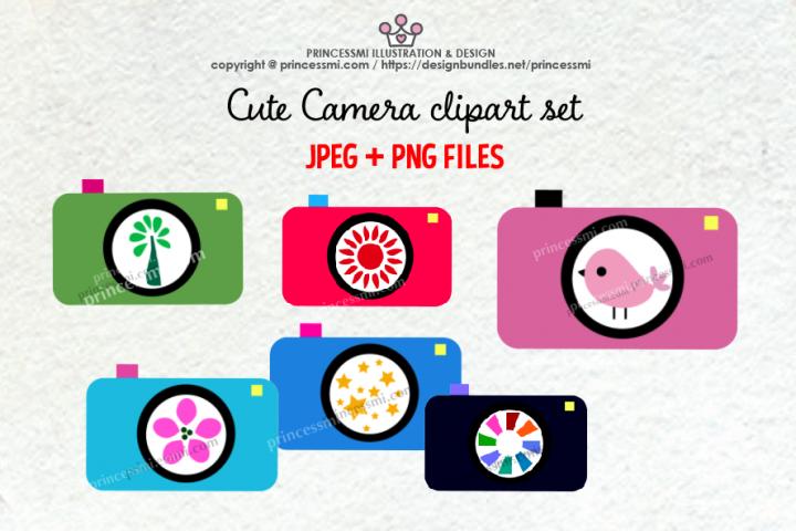 Cute camera clipart set 5