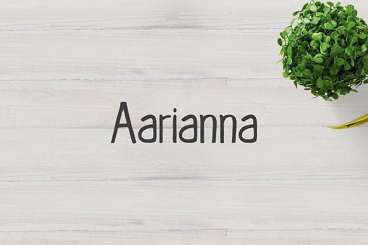 Aarianna Handmade Brush Font Family