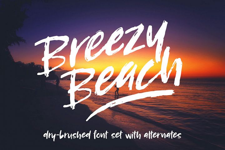 Breezy Beach: a dry brushed font