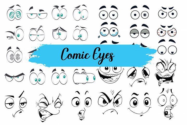 Comic eyes,eyes,eyes clipart,eyes illustrations,comic bubbles,empty comic bubbles,empty,comic,bubbles