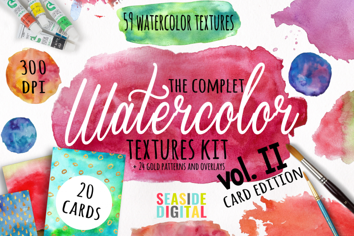 Watercolor Textures - card edition - Free Design of The Week