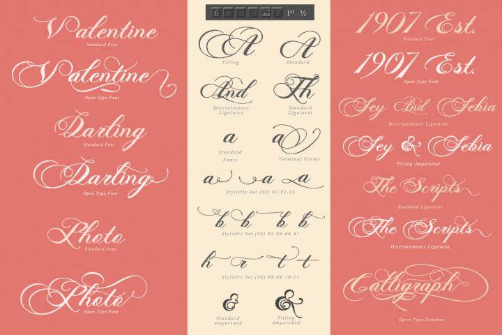 Photograph - Script Wedding Font - Free Font of The Week Design 2