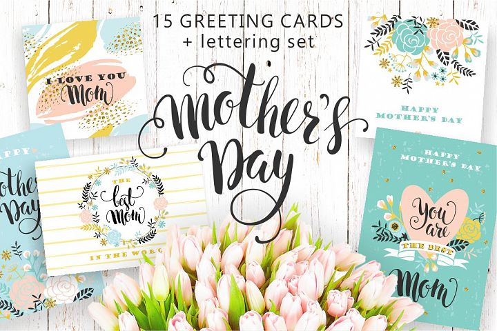 15 greeting cards for Mothers Day