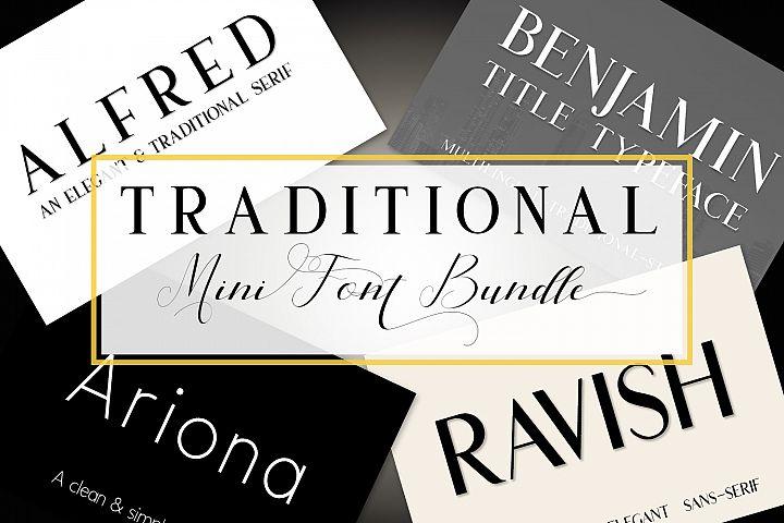 Traditional Mini Font Bundle