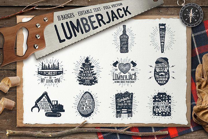 Lumberjack. Vintage Badges (part 2)
