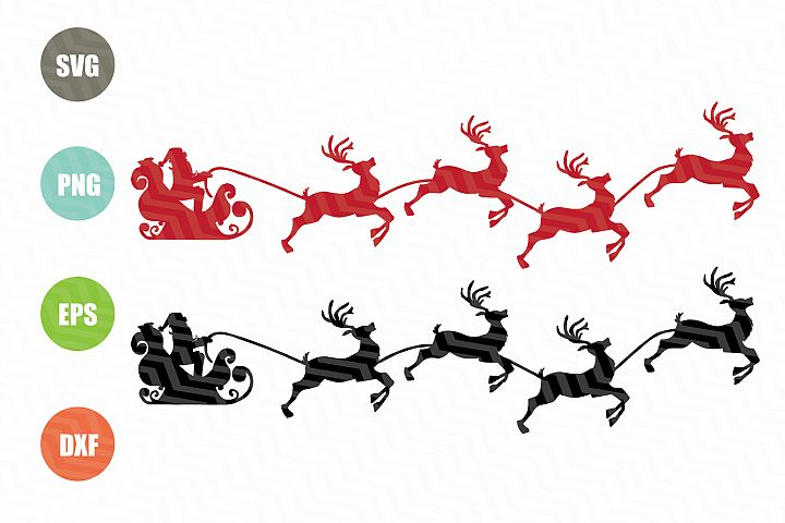 Santa Claus With Reindeer SVG