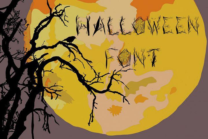 Halloween woody alphabet