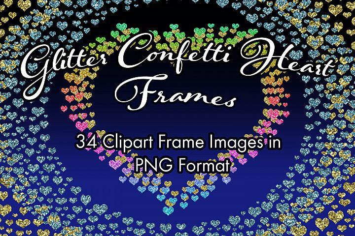Glitter Confetti Heart Frames