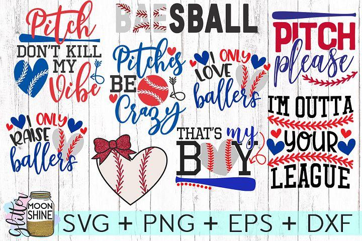 Big Baseball Bundle SVG DXF PNG EPS Cutting Files
