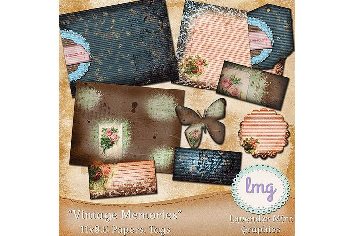 Vintage Memories Journal Papers 11x8.5