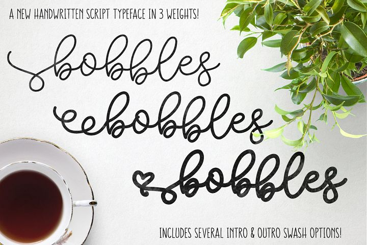 Bobbles: A Script Font in 3 Weights