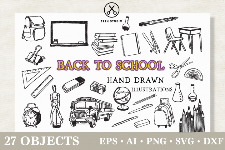 Back to School Illustration Pack
