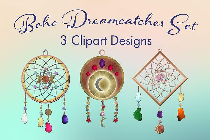 Boho Dreamcatcher Clipart - 3 Clipart Designs