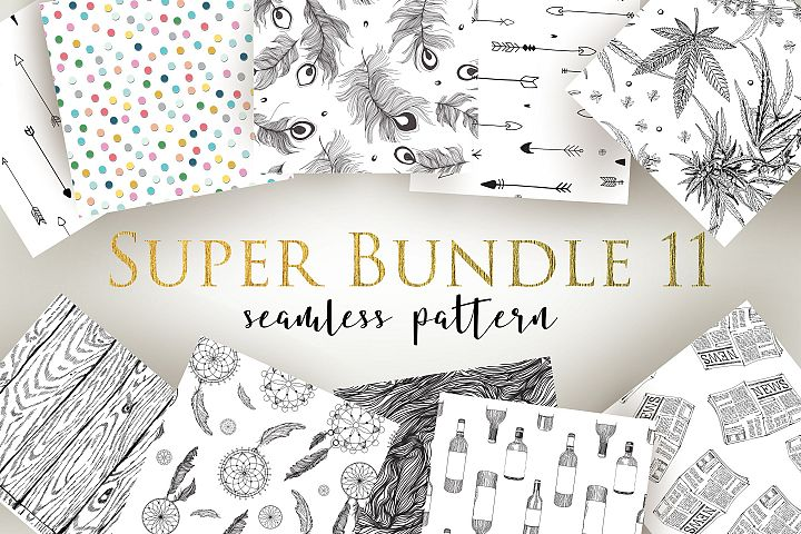 Super Bundle 11 Seamless Patterns