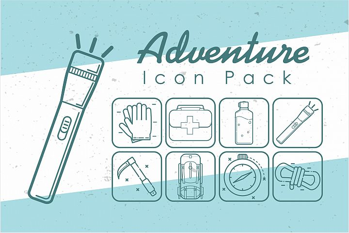 Adventure Thin Icon Pack