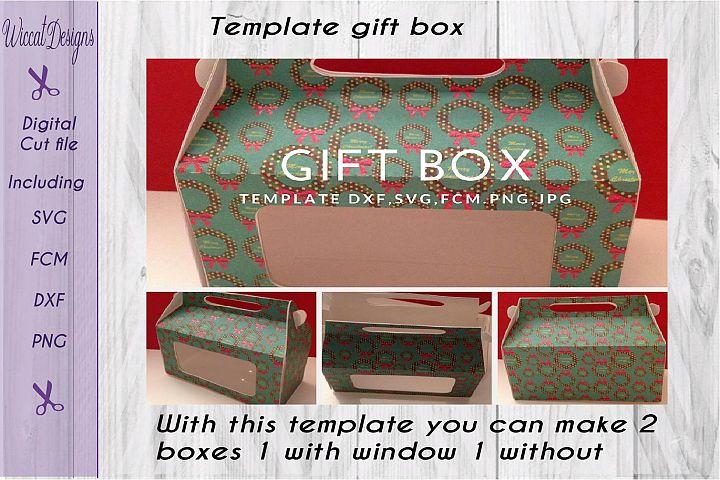 Gift box, paper Gift box svg, template box svg,