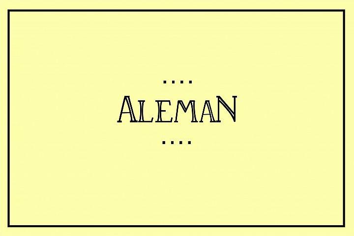 Aleman fonts