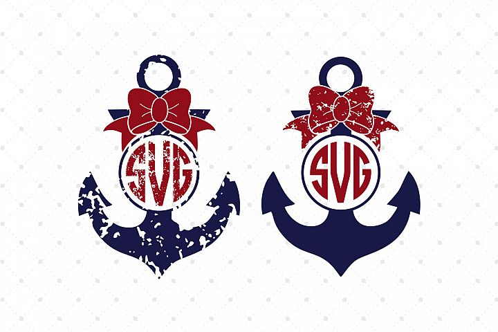 Anchor Monogram Frames SVG Cut Files