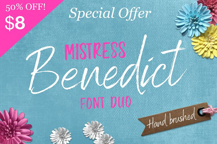Brush font duo - Hand lettered Script Font pair which can be used for a Cricut design svg font