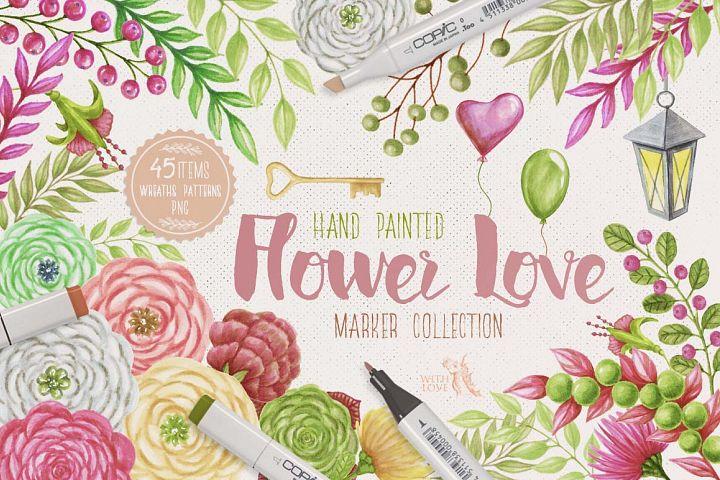 Flower Love Marker Kit