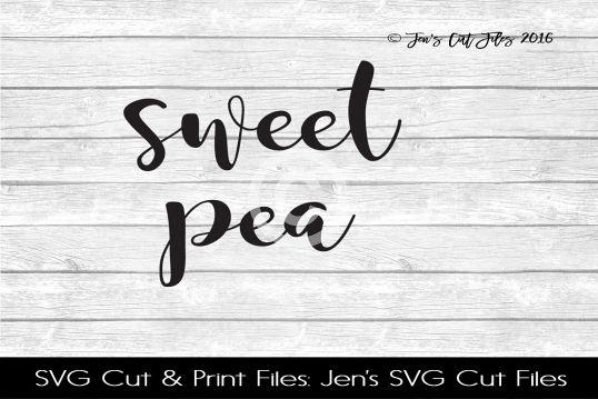 Sweet Pea SVG Cut File