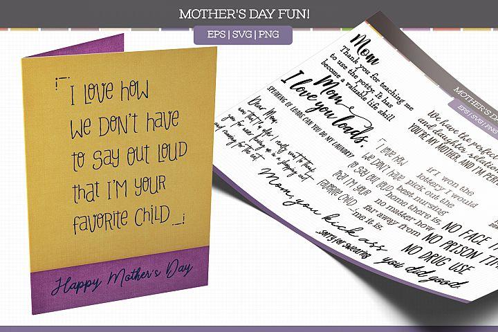 Mothers Day Fun