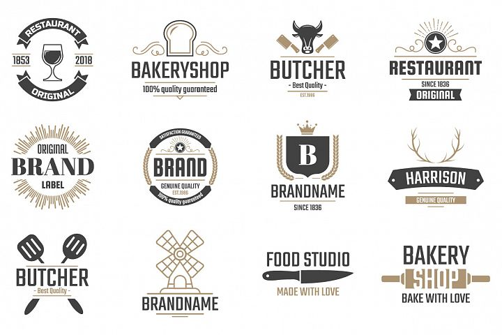 42  Vintage Logo Set example 3