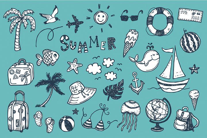 Summer doodles + patterns