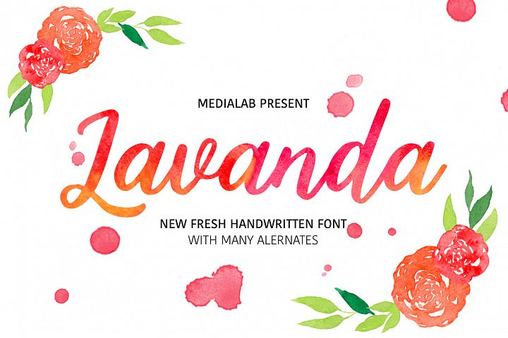 Lavanda - Free Font of The Week