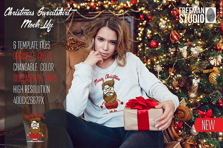 Christmas Sweatshirt Mock-Up