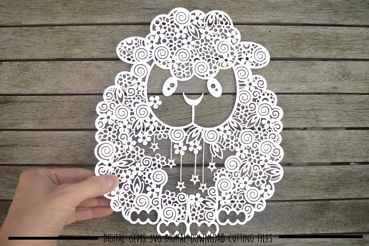 Sheep paper cut SVG / DXF / EPS files