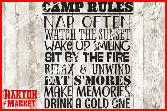 Camp Rules SVG / EPS / PNG