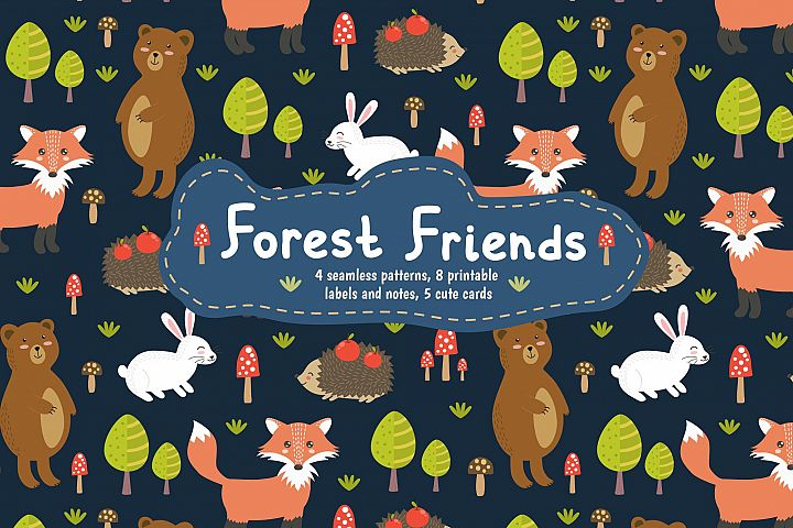 Forest Friends: patterns & cards