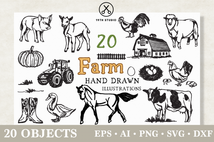Farm Illustration Pack