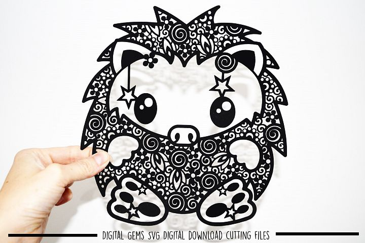 Hedgehog paper cut SVG / DXF / EPS files